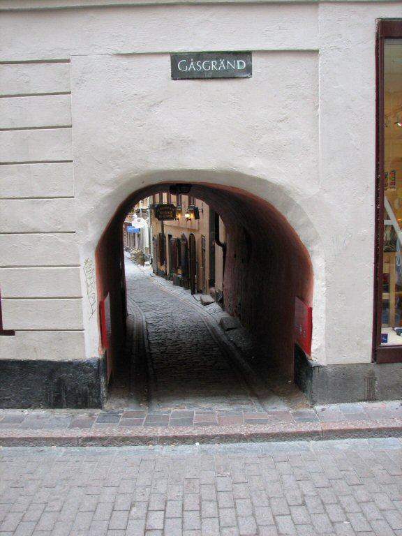 Gasgränd Stockholm
