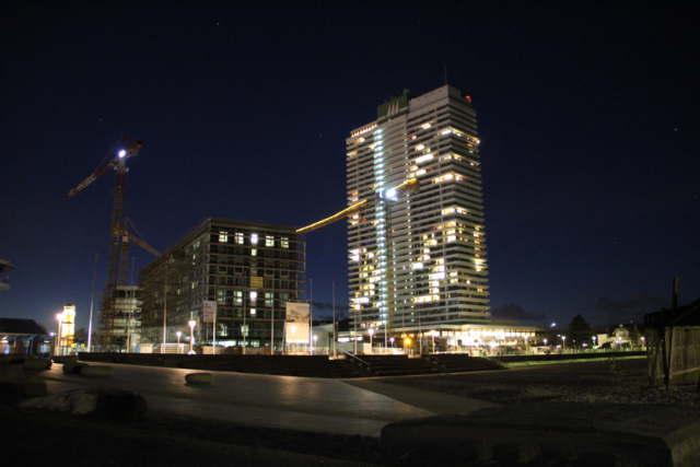 Nachtaufnahme Hotel in Travemünde