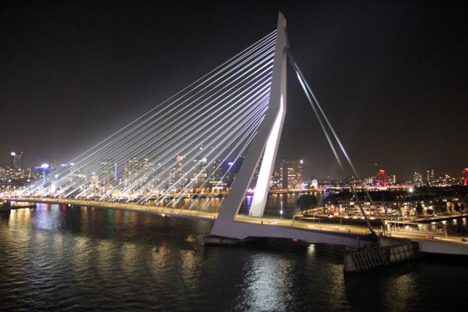 Rotterdam Erasmusbruecke Nacht